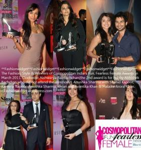 Cosmopolitan India's Fun Fearless Female Awards 2011