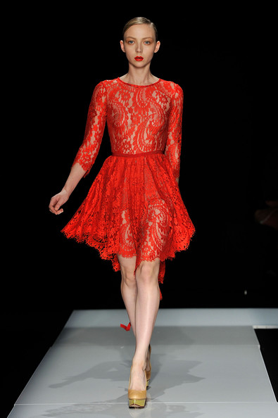 Erdem Red Lace Dress