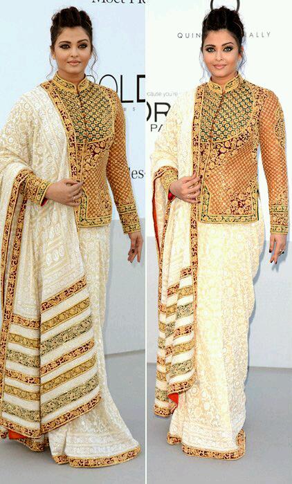 Happening In Cannes: Aishwarya Rai-Bachchan in Abu-Sandeep at the 2012 AmFar Charity Dinner