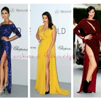 "Fashion Winners: Nina Dobrev, Kim K & Jessie J ""Angelegging"" Fashionistas at amFAR 2012"