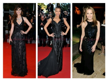 Back in Black on Days 6 and 7: Girls in Noir Roberto Cavalli Gowns Rule the Red Carpet at Cannes 2012