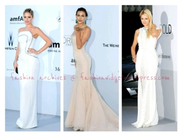 White Heat and Cream Courtesy of Doutzen Kroes, Paris Hilton and Irina Shayk in Cannes for amFAR