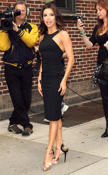Eva Longoria's LBD Perfection outside David Letterman's in NYC