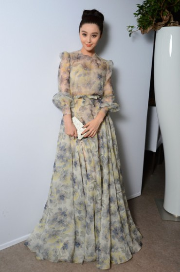 Fan Bingbing in Valentino at the L'Oreal 15th Anniversary Dinner in Cannes,France