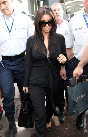 Breaking Cannes: No sign of Angelina Jolie at the 'Killing Them Softly' photo-ops, Kim Kardashian arrives in Nice, France.