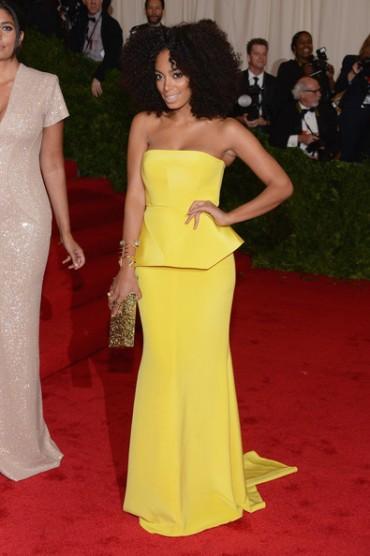 #3 Best Dressed @ the Met Gala 2012 - Solange Knowles in Rachel Roy