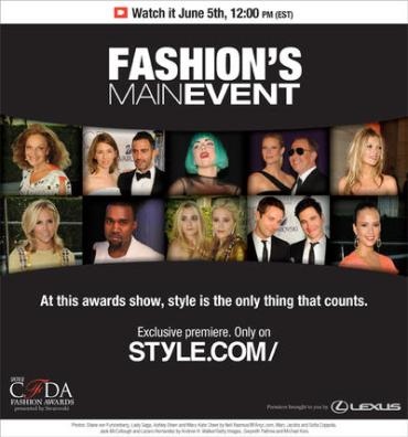 Fashion's Main Event: The CFDA Awards will be streamed LIVE for the first ever this year