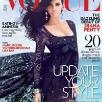 Mag Rack: Model/Indian Actress Diana Penty Covers Vogue India in Pucci - July 2012