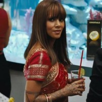 First Look: Actress Halle Berry in a Red Saree from the Upcoming Film 'Cloud Atlas'